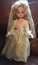 "Vintage Furga Alta Moda 17"" Doll Blonde Bride Doll Made in Italy"