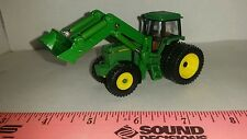 1/64 ERTL custom John deere 4760 tractor with Duals & John deere loader farm toy