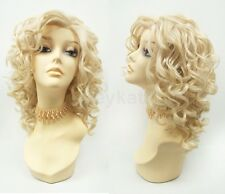 Pre-Trimmed Lace Front Blonde Curly Heat Resistant Wig Large Spiral Curls 13""