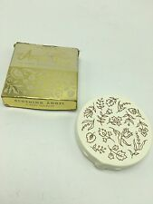 Vintage Ponds Angel Face Mirror Compact Case Blushing Tan Rose Makeup Powder