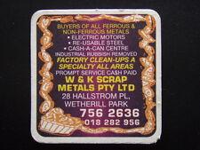W & K SCRAP METALS P/L 28 HALLSTROM PL WETHERILL PARK 7562636 COASTER