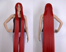 """60 """"(150cm)Mixed Red  Extra Long Cosplay Wig Cosplay Party Costume Anime Hair"""