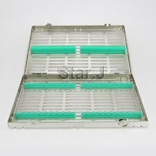 Dental Surgical 20 Instruments Sterilization Cassette Tray Racks - NEW