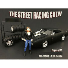 THE STREET RACING CREW FIGURE IV FOR 1:24 SCALE MODELS AMERICAN DIORAMA 77484