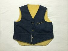 Vintage Carter's Watch the Wear Lebanon NH Denim jean Button Vest Men's sz Large
