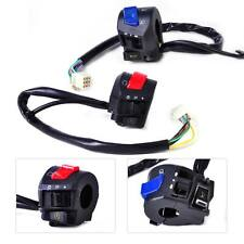 """2x 7/8"""" Handlebar Horn Turn Signal Headlight Switch Control Fit for Motorcycle"""