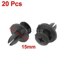 20 Pcs Car Bumper Fender 6mm Hole Black Plastic Rivets Fasteners for Toyota New