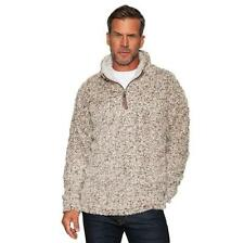 True Grit Mens Frosty Tip 1/4 Zip Jacket Brown VHTF Size Small NWT