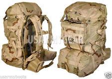 US Army Military Molle 2 Large Desert Ruck Sack Back Pack Frame Set+ Assault Pk+