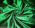 """EMERALD GREEN 100% AUTH PURE SILK FABRIC 40""""W FORMAL DRESS QUILT DRAPE SUIT"""