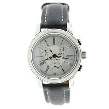 Tiffany & Co Mark Atlas Chronograph Stainless Steel Leather Band Wrist Watch