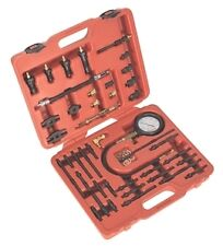 Sealey Benzina & Diesel Master Compressione Tester Tool Kit con 600psi Gauge