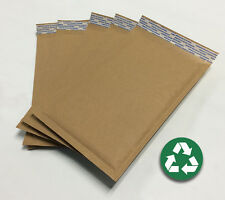 Size 00 ( 5x9 ) Recycled Natural Brown Kraft Bubble Mailer 100 ct (USA Made)