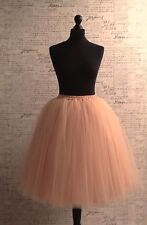 Nude Peach Skirt Tulle Party Casual Wedding Day Sexy 50s Sizes S/M/L/XL