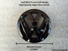 VW Golf MK5 Gloss Black Front Grille Badge Emblem - UK Seller -