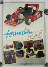 Vintage Go Kart Poster Formula 125 Racing Yamaha Moto Cross Karting Engine Parts