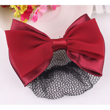 Durable Snood Net Bowknot Detail French Clip Hair Barrette For Woman Beauty