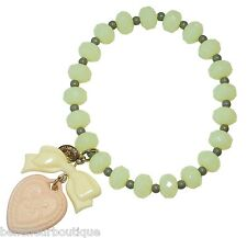 Tarina Tarantino Macaron Heart Charm Bracelet Lemon & Peach *Made in California*