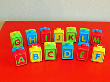 VTECH ALPHABET ACTIVITY CUBE 13 PC DUAL SIDE SET LETTER BLOCKS REPLACEMENT PARTS
