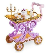 DISNEY Potts BELLE's Mrs gioco servizio da tè Cart Trolley parlando LUMIERE Light Up