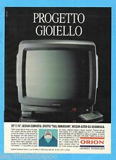 QUATTROR992-PUBBLICITA'/ADVERTISING-1992- ORION TV COLOR