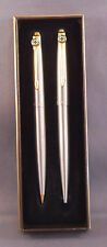 Parker Jotter Ball Pen and Pencil-stainless steel with Green Cross Logo on clips