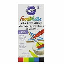 Wilton Food Writer Edible Color Markers Bold Tip .35oz 5/Pkg - Primary