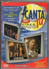 PATTY PRAVO 883 PAOLA CHIARA RAF ANNA TATANGELO Video DVD Canta tu VOL.3 sealed