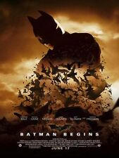 BATMAN BEGINS MOVIE POSTER 1 Sided ORIGINAL Ver E 27x40 CHRISTIAN BALE