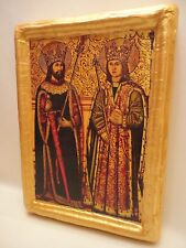 Saint Abdon and Saint Sennen Christian  Roman Catholic Icon Art on Wood Plaque