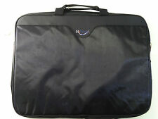 "HiPoint Black Laptop Notebook Macbook Folio Cover Lightweight Carry Bag 16""x12"""