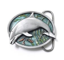 DOLPHIN SMALL BELT BUCKLE 14026 new sea ocean belt buckles