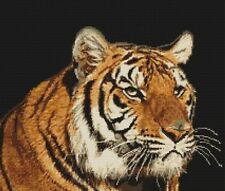 Cross stitch kit tiger luca-s premium threads