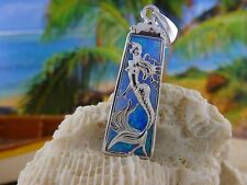 HIGH POLISHED STERLING SILVER MERMAID SLIDE PENDANT IN FRAME WITH OPAL BACKING