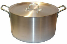 "16"" Large Aluminium Cooking Saucepan Stock Stew Soup Casserole Catering Pan Pot"
