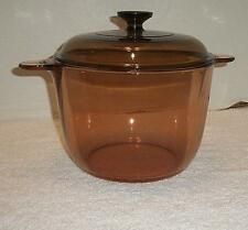 Corning Ware Amber Vision Ware 3.5 Liter Dutch Oven/Stock Pot w/ Lid France