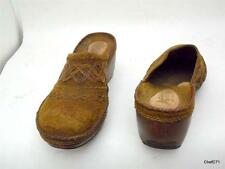 CLARKS ARTISAN COLLECTION US WOMENS 5 M 72932 SLIDES MULES CLOGS BROWN STITCHED