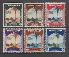 TRIPOLITANIA #73-78 MNH 2nd Colonial Arts Exhibition 1934, Naples SCV $60.00