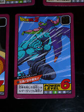DRAGON BALL Z DBZ SUPER BATTLE POWER LEVEL PART 1 CARDDASS CARD CARTE 127 JAPAN