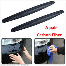 2×Carbon Fiber Car Bumper Exterior Protector Corner Guard Strip Spoiler Anti-Rub