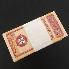 Bundle 100 PCS, Mongolia 20 Mongo, 1993, P-50, UNC Lot Pack