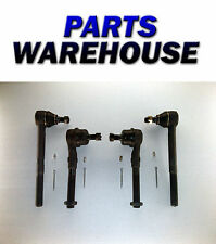 4 Pc New Outer & Inner Tie Rod Kit - Ford F150 F250/Lincoln Navigator Warranty