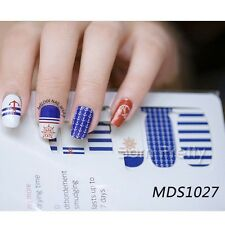 14pcs/Sheet Anchor Nail Wraps Decoration Nail Art Full Stickers for DIY MDS1027