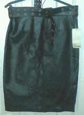 LOOK BNWT Womens BLACK Lambskin REAL LEATHER SKIRT uk12 us8 eu38 Wst w30in w76cm