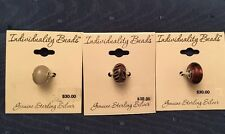 3 Individuality Beads Charms Genuine.925 Silver Wholesale Lot Of 3 Beads NWT $90