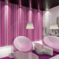 Pink and Purple Abstract Stripe Wallpaper Paste the Wall Geometric 32727-3