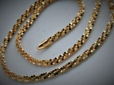 """Italian Veronese 16"""" Gold Clad Sterling Silver Fancy Roped Link Necklace"""