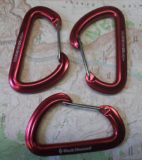 Black Diamond Hotwire Carabiner 3pak Climbing Rock Alpine Ice Big Wall Biner Red