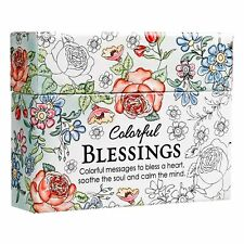 Colorful Blessings:Cards to Color and Share by Christian Art Gifts [Hardcover]