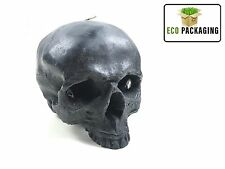 Skull Skeleton Halloween Candle Scented Wildberry Reusable Black Life Size